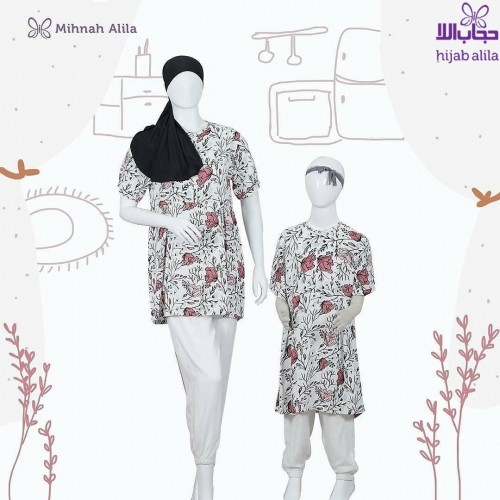 MIHNAH MOTIF HOMEY WHITE