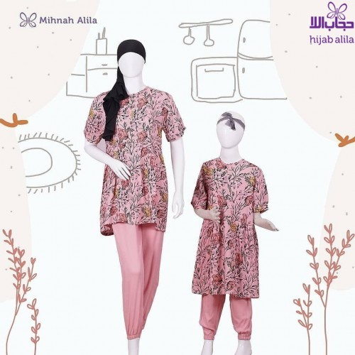 MIHNAH MOTIF HOMEY BABY PINK