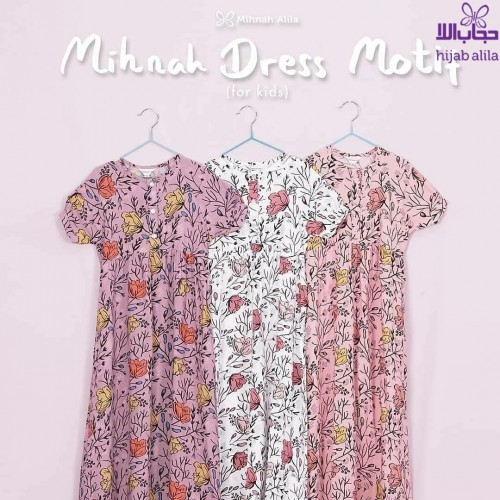 MIHNAH DRESS KIDS BABY PINK